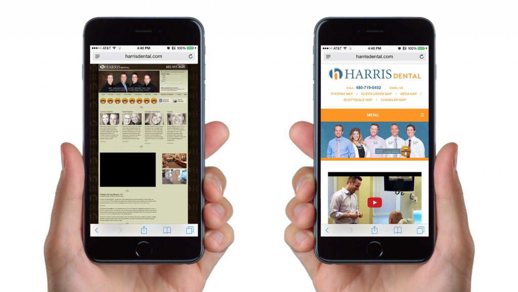 Mobile and video on a mobile-responsive website are key to converting visitors.